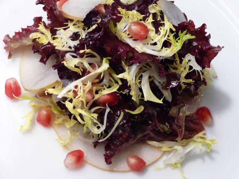 Asian pear pomegranite salad