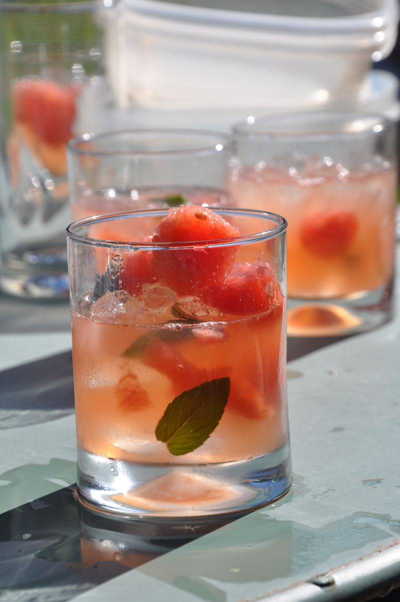 Watermelon cooler drink