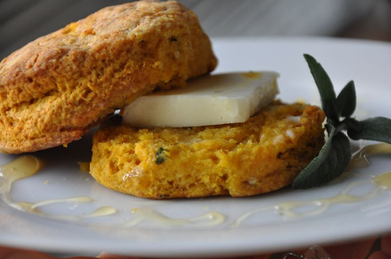 pumpkin sage biscuits