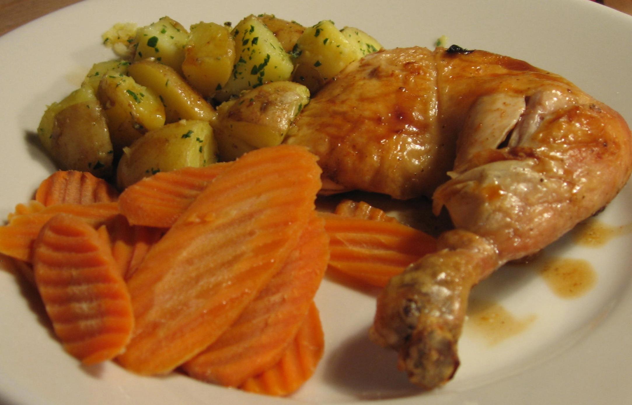 Roast chicken recipe in french